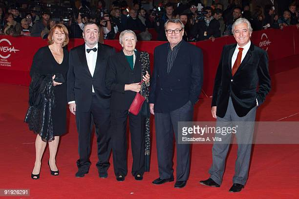 Actress Senta Berger, director Pavel Lungin, architect Gae Aulenti, director Milos Forman and screenwriter Jean-Loup Dabadie attend the 'Triage'...