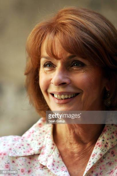 Actress Senta Berger poses at a photocall for the new German SAT1 television film Die Maenner Sind Alle Verbrecher on June 21 2005 in Berlin Germany
