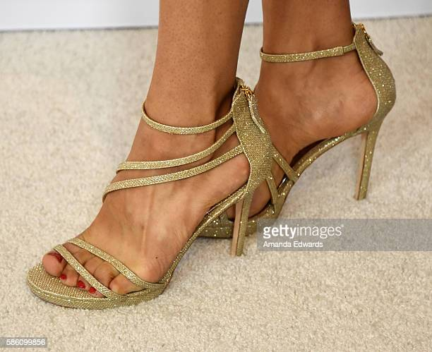 Actress Sepideh Moafi shoe detail attends the Disney ABC Television Group TCA Summer Press Tour on August 4 2016 in Beverly Hills California