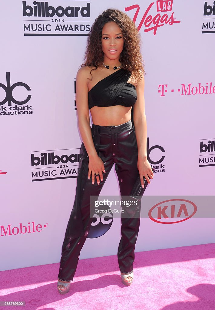 Actress Serayah arrives at the 2016 Billboard Music Awards at T-Mobile Arena on May 22, 2016 in Las Vegas, Nevada.