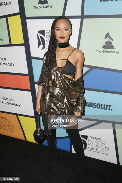 Actress Serayah attends 2017 Essence Black Women in Music at NeueHouse Hollywood on February 9 2017 in Los Angeles California