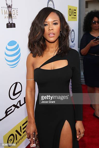 Actress Serayah attends the 47th NAACP Image Awards presented by TV One at Pasadena Civic Auditorium on February 5 2016 in Pasadena California