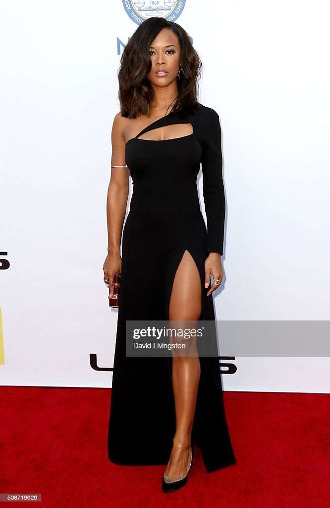 Actress Serayah attends the 47th NAACP Image Awards presented by TV One at Pasadena Civic Auditorium on February 5, 2016 in Pasadena, California.