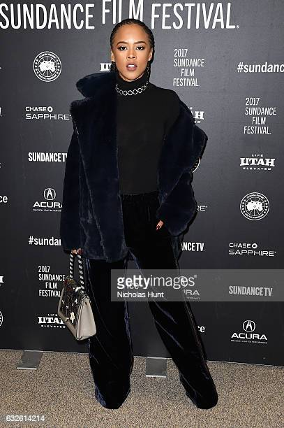 Actress Serayah attends the Burning Sands Premiere at Eccles Center Theatre on January 24 2017 in Park City Utah