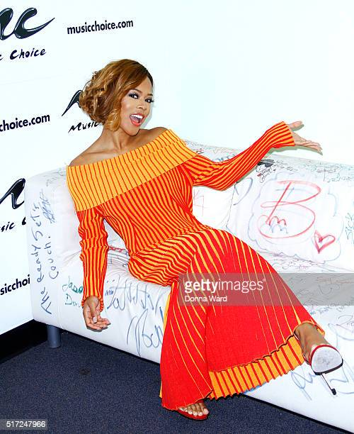 """Actress Serayah McNeill appears to promote """"Empire"""" at Music Choice on March 24, 2016 in New York City."""
