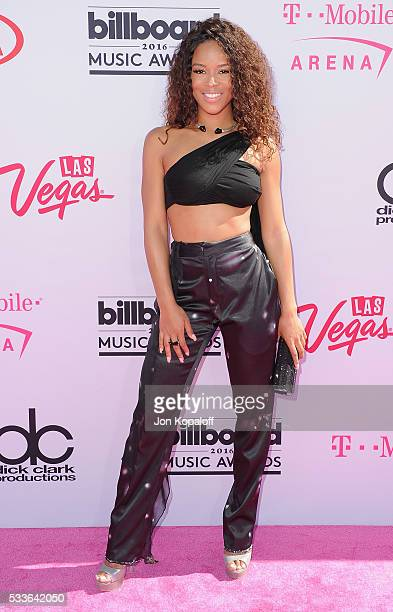 Actress Serayah McNeill arrives at the 2016 Billboard Music Awards at T-Mobile Arena on May 22, 2016 in Las Vegas, Nevada.