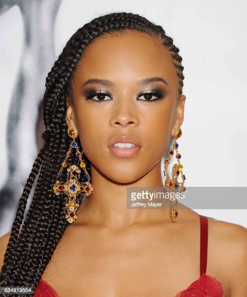 Actress Serayah McNeill arrives at the 48th NAACP Image Awards at Pasadena Civic Auditorium on February 11 2017 in Pasadena California