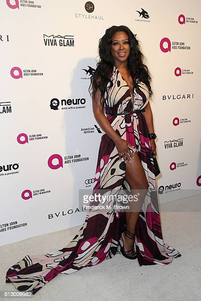 Actress Serayah McNeill attends the 24th Annual Elton John AIDS Foundation's Oscar Viewing Party on February 28 2016 in West Hollywood California