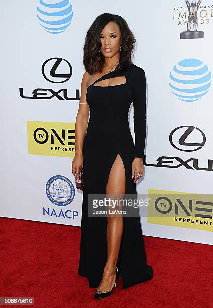 Actress Serayah McNeill attends the 47th NAACP Image Awards at Pasadena Civic Auditorium on February 5 2016 in Pasadena California