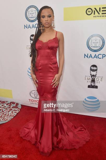 Actress Serayah McNeill attends the 48th NAACP Image Awards at Pasadena Civic Auditorium on February 11 2017 in Pasadena California