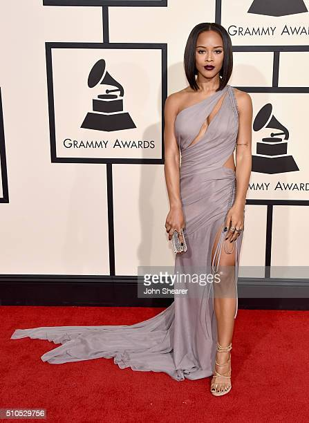 Actress Serayah McNeill attends The 58th GRAMMY Awards at Staples Center on February 15 2016 in Los Angeles California