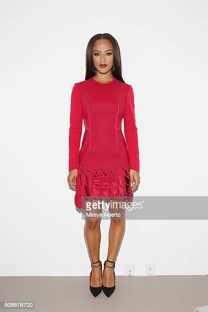 Actress Serayah McNeill attends the Dion Lee fashion show during Fall 2016 MADE Fashion Week at Milk Studios on February 13 2016 in New York City