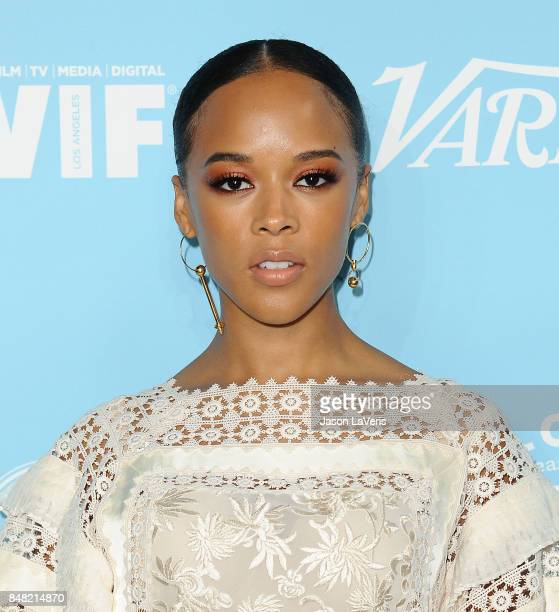 Actress Serayah McNeill attends Variety and Women In Film's 2017 preEmmy celebration at Gracias Madre on September 15 2017 in West Hollywood...