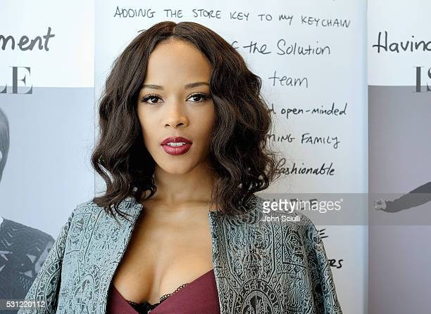 Actress Serayah McNeill helps HM celebrate 2016 Place Of Possible launch at HM Sunset Strip on May 12 2016 in West Hollywood California