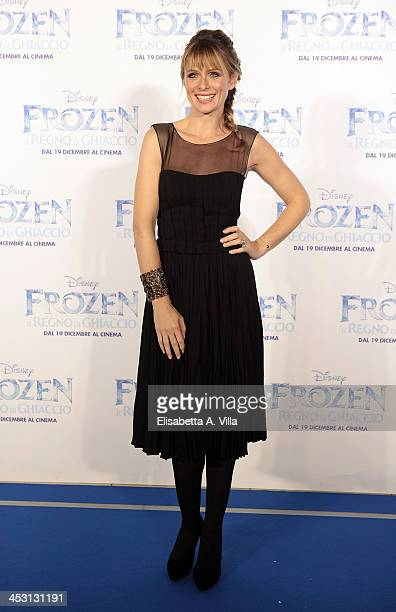 Actress Serena Autieri attends the 'Frozen' Rome Premiere at Cinema Adriano on December 2 2013 in Rome Italy