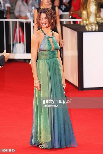 Actress Serena Grandi attends the 'Il Papa Di Giovanna' film premiere at the Sala Grande during the 65th Venice Film Festival on August 31 2008 in...