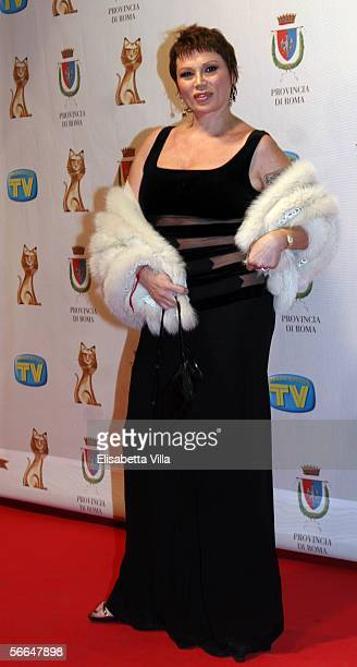 Actress Serena Grandi attends the TV Sport Cinema And Music Italian Awards at the Auditorium on January 22 2006 in Rome Italy