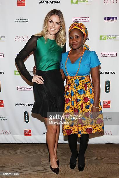 Actress Serinda Swan and activist Beatrice Biira attend 2014 Hope North Benefit Gala at City Winery on November 1 2014 in New York City