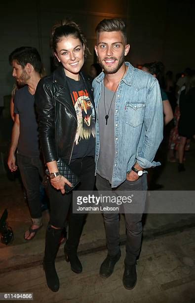 Actress Serinda Swan and guest attend The Giving Keys launch party for the new Matte Black Key Necklace on September 29 2016 at RVCC in Los Angeles...
