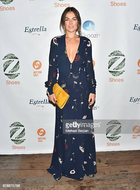 Actress Serinda Swan arrives at Not For Sale x Z Shoes Benefit at Estrella Sunset on December 9, 2016 in West Hollywood, California.