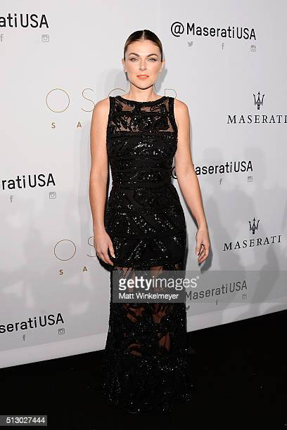 Actress Serinda Swan arrives at the 2016 Oscar Salute after party hosted by Kevin Hart at W Hollywood on February 28 2016 in Hollywood California