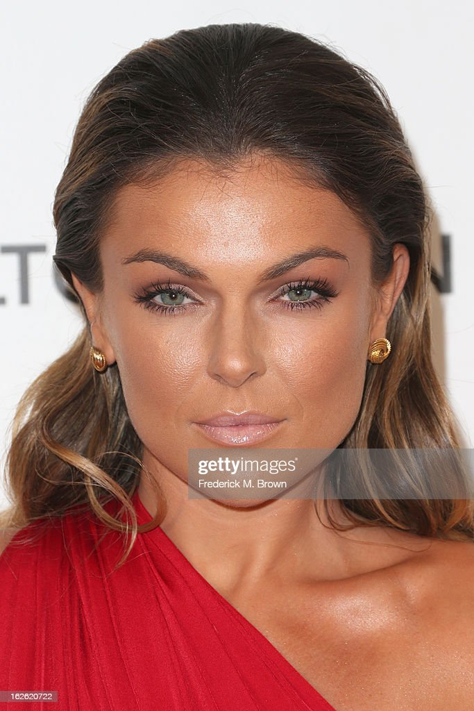 Actress Serinda Swan arrives at the 21st Annual Elton John AIDS Foundation's Oscar Viewing Party on February 24, 2013 in Los Angeles, California.