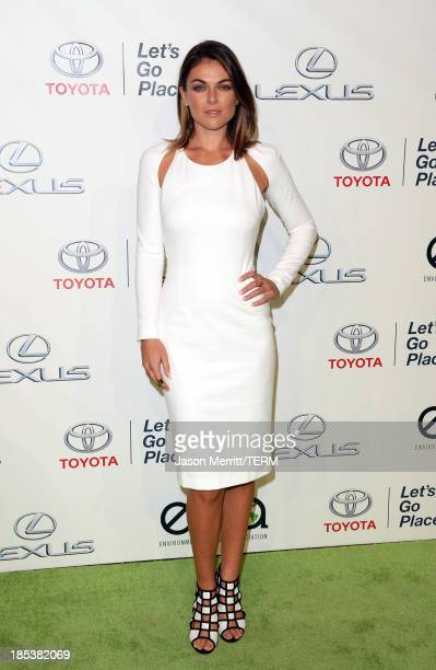 Actress Serinda Swan arrives at the 23rd Annual Environmental Media Awards presented by Toyota and Lexus at Warner Bros Studios on October 19 2013 in...