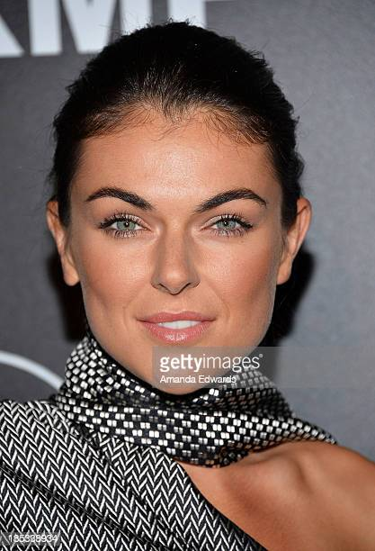 Actress Serinda Swan arrives at the launch of the Redlight Traffic APP at the Dignity Gala at The Beverly Hilton Hotel on October 18 2013 in Beverly...