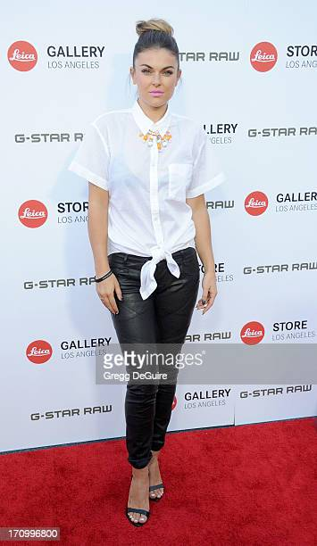 Actress Serinda Swan arrives at the Leica Store Los Angeles grand opening at Leica on June 20 2013 in Los Angeles California