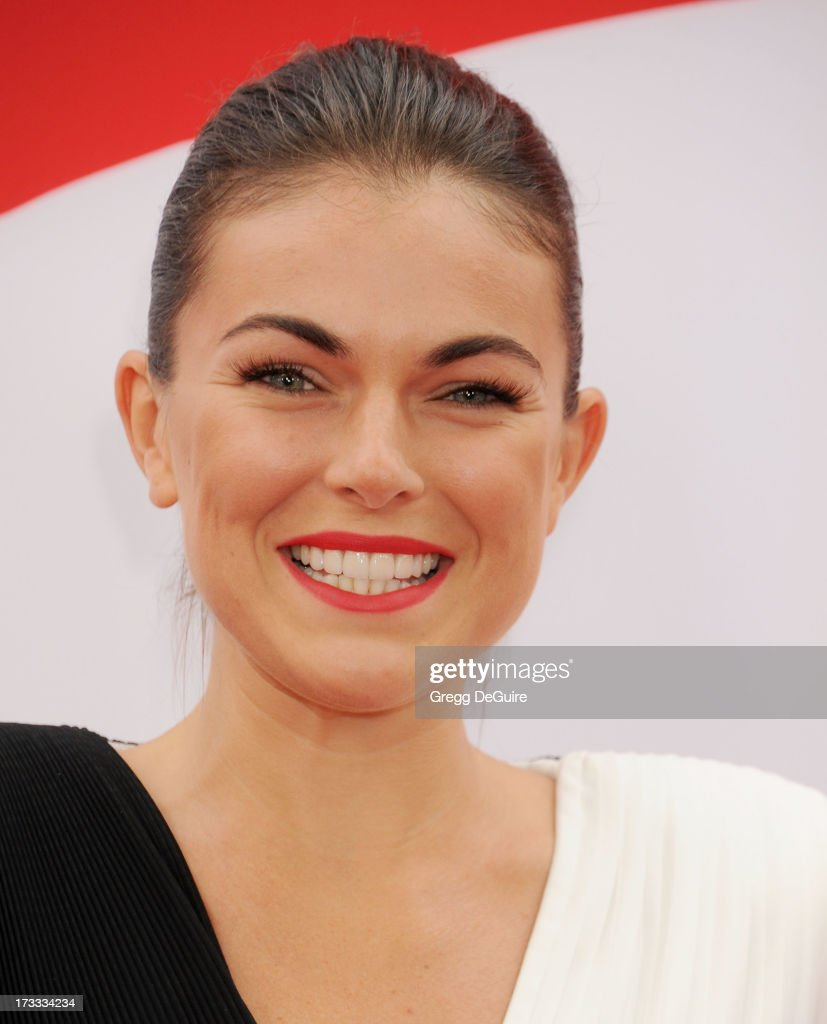 Actress Serinda Swan arrives at the Los Angeles premiere of 'Red 2' at Westwood Village on July 11, 2013 in Los Angeles, California.