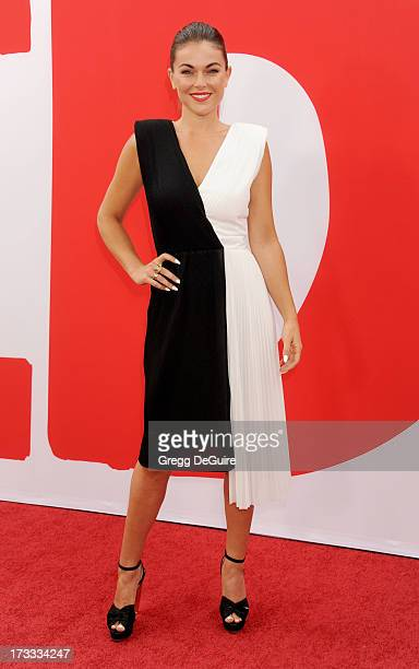 Actress Serinda Swan arrives at the Los Angeles premiere of 'Red 2' at Westwood Village on July 11 2013 in Los Angeles California