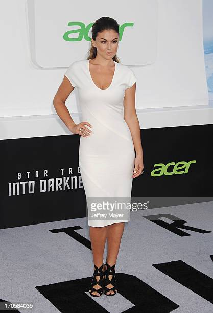 Actress Serinda Swan arrives at the Los Angeles premiere of 'Star Trek Into Darkness' at Dolby Theatre on May 14 2013 in Hollywood California