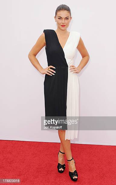 """Actress Serinda Swan arrives at the Los Angeles Premiere """"Red 2"""" at Westwood Village on July 11, 2013 in Los Angeles, California."""