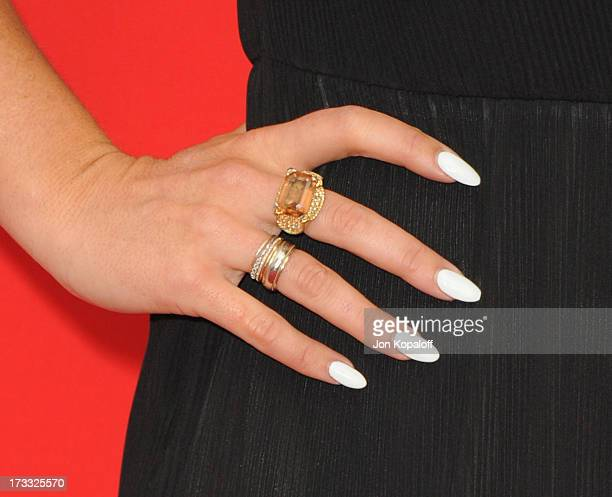 Actress Serinda Swan arrives at the Los Angeles Premiere 'Red 2' at Westwood Village on July 11 2013 in Los Angeles California