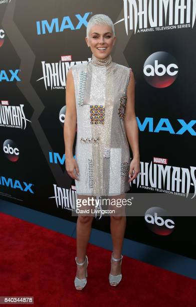 Actress Serinda Swan attends the premiere of ABC and Marvel's 'Inhumans' at Universal CityWalk on August 28 2017 in Universal City California