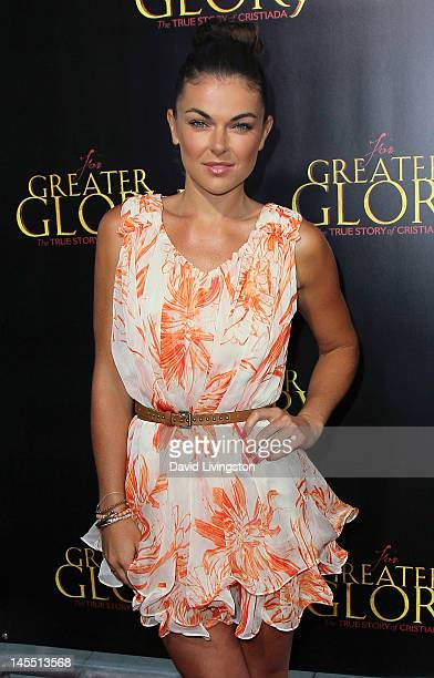 Actress Serinda Swan attends the premiere of ARC Entertainment's For Greater Glory at the AMPAS Samuel Goldwyn Theater on May 31 2012 in Beverly...