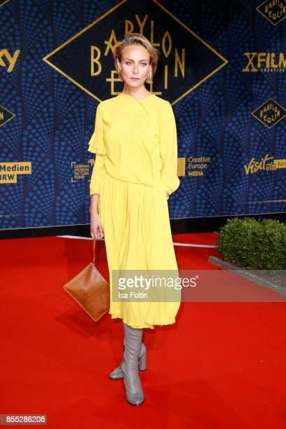 Actress Severija Janusauskaite attends the 'Babylon Berlin' Premiere at Berlin Ensemble on September 28 2017 in Berlin Germany
