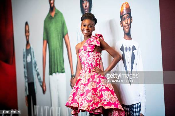 Actress Shahadi Wright Joseph arrives for the New York premiere of 'US' at the Museum of Modern Art on March 19 2019 in New York City