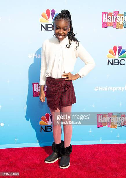 Actress Shahadi Wright Joseph attends the press junket for NBC's 'Hairspray Live' at the NBC Universal Lot on November 16 2016 in Universal City...