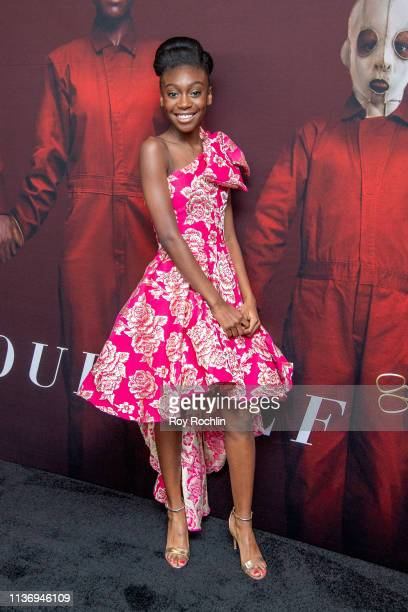 "Actress Shahadi Wright Joseph attends the ""Us"" New York Premiere at Museum of Modern Art on March 19, 2019 in New York City."