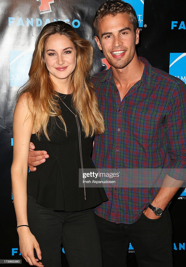 Actress Shailene Woodley (L) and actor Theo James attend Summit Entertainment's Comic-Con Red Carpet Press Event at Hard Rock Hotel San Diego on July 18, 2013 in San Diego, California.