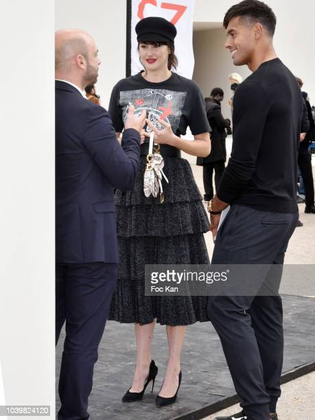 Actress Shailene Woodley and Ben Volavola attend the Christian Dior show as part of the Paris Fashion Week Womenswear Spring/Summer 2019 on September...