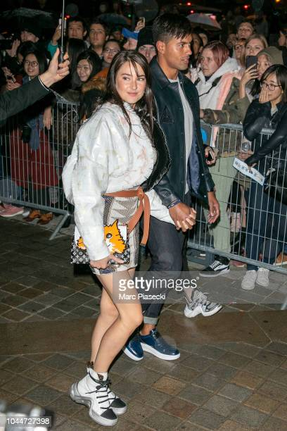 Actress Shailene Woodley and Ben Volavola attend the Louis Vuitton show as part of the Paris Fashion Week Womenswear Spring/Summer 2019 on October 2...