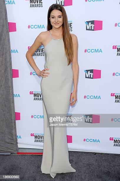 Actress Shailene Woodley arrives at the 17th Annual Critics' Choice Movie Awards held at The Hollywood Palladium on January 12 2012 in Los Angeles...
