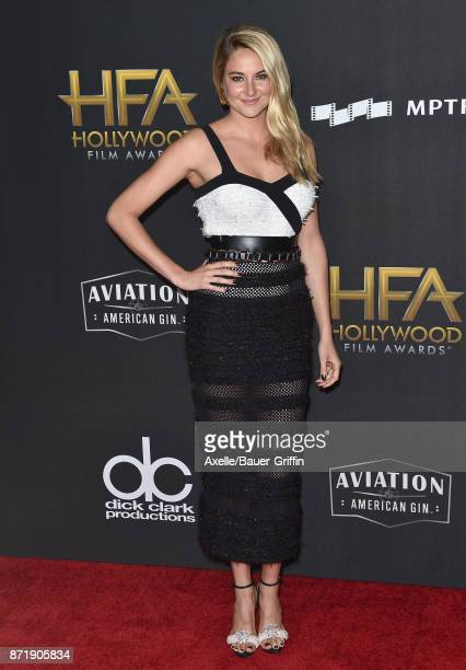 Actress Shailene Woodley arrives at the 21st Annual Hollywood Film Awards at The Beverly Hilton Hotel on November 5, 2017 in Beverly Hills,...