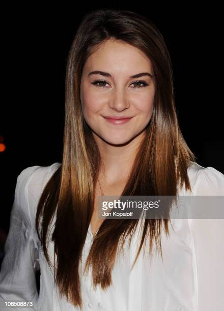 Actress Shailene Woodley arrives at the Los Angeles Premiere 127 Hours at AMPAS Samuel Goldwyn Theater on November 3 2010 in Beverly Hills California