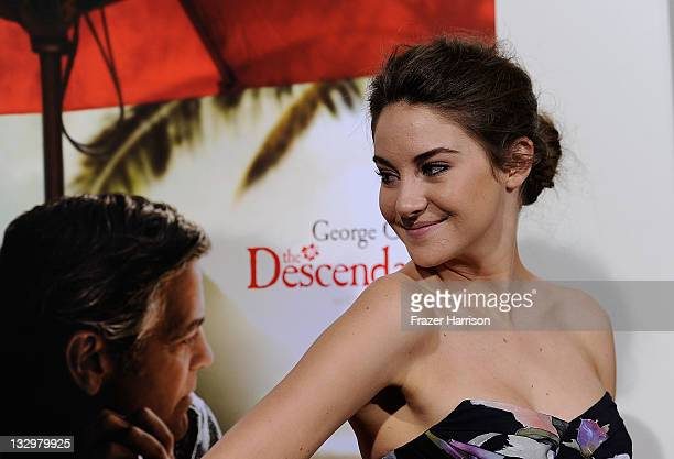 Actress Shailene Woodley arrives at the Premiere Of Fox Searchlight's The Descendants at AMPAS Samuel Goldwyn Theater on November 15 2011 in Beverly...