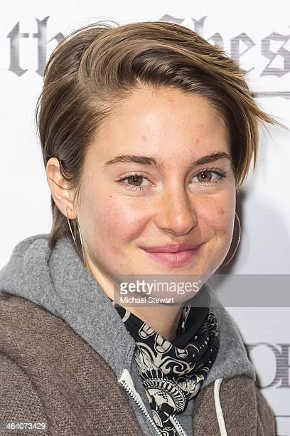 Actress Shailene Woodley attend Paige Hospitality Group's Third Annual Sundance Football Game Watch on January 19 2014 in Park City Utah