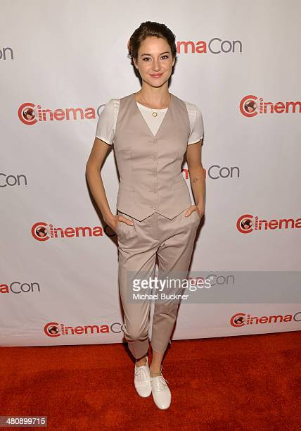 Actress Shailene Woodley attends 20th Century Fox's Special Presentation Highlighting Its Future Release Schedule during CinemaCon the official...