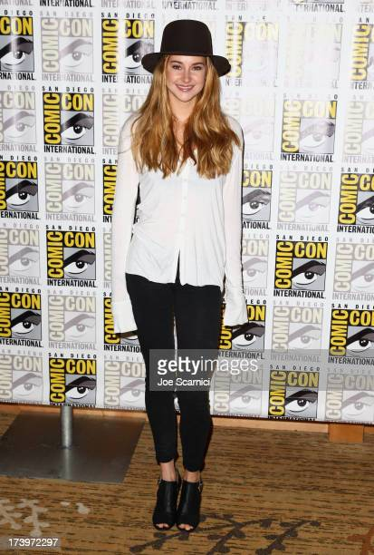 Actress Shailene Woodley attends Divergent ComicCon Press Line at San Diego Convention Center on July 18 2013 in San Diego California